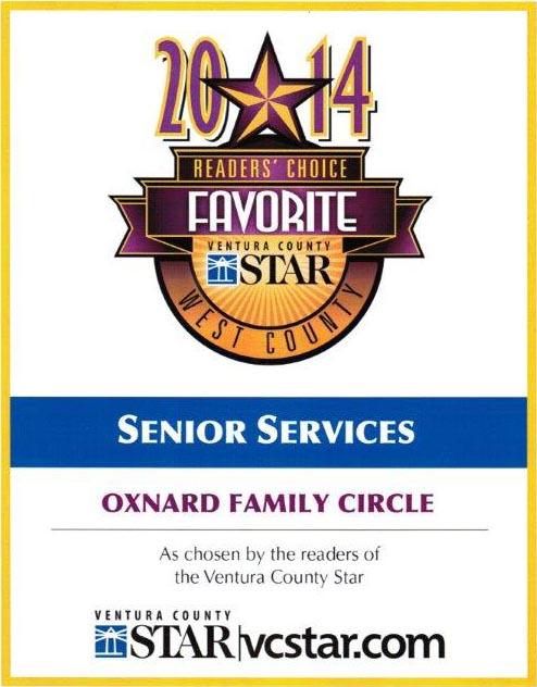 Reader's Choice Favorite Senior Services 2014